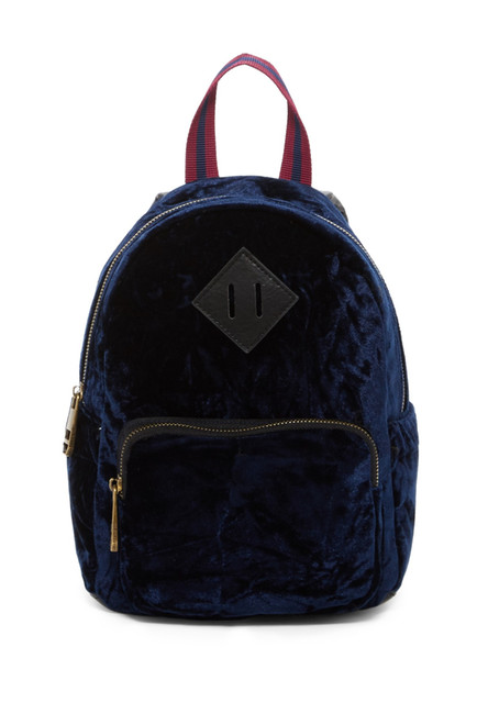 madden girl shimmer velvet backpack.jpg