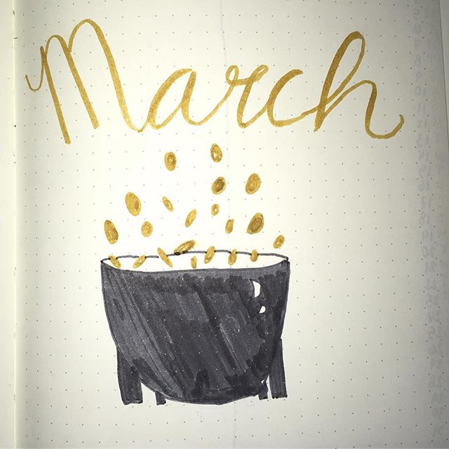 throw happiness around like....GOLD this march!!! check out my monthly bullet journal setup, up on the blog now!! 🍀🍀🍀 . . . #lifestyle #lifestyleblog #lifestyleblogger #style #styleblog #styleblogger #fashion #fashionblog #fashionblogger #bulletjournal #bujo #bujomonthly #bulletjournaling #bohoberrytribe #tombow #llamaletters #bohoberrybox