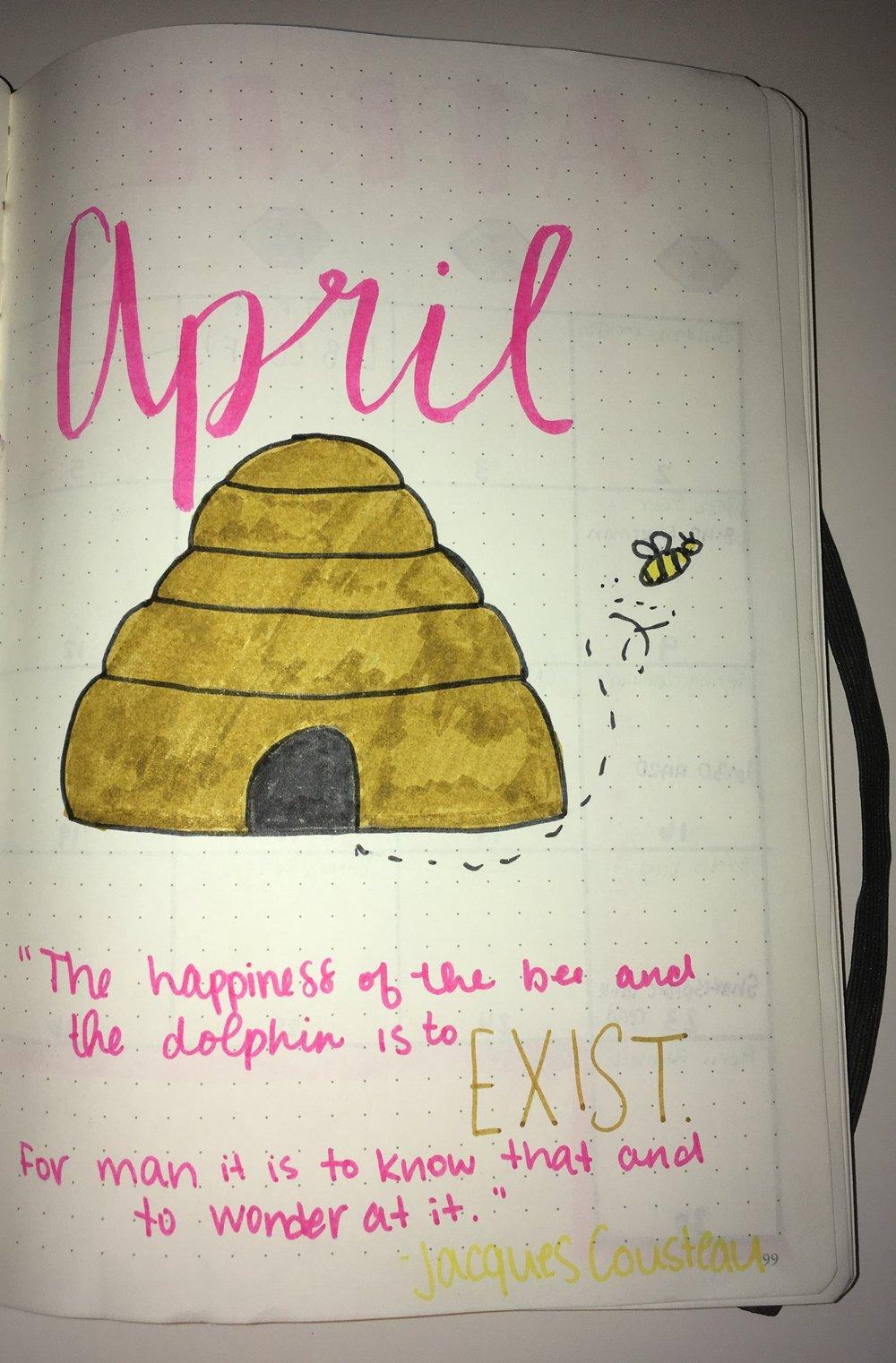 bullet journal april cover page.jpg
