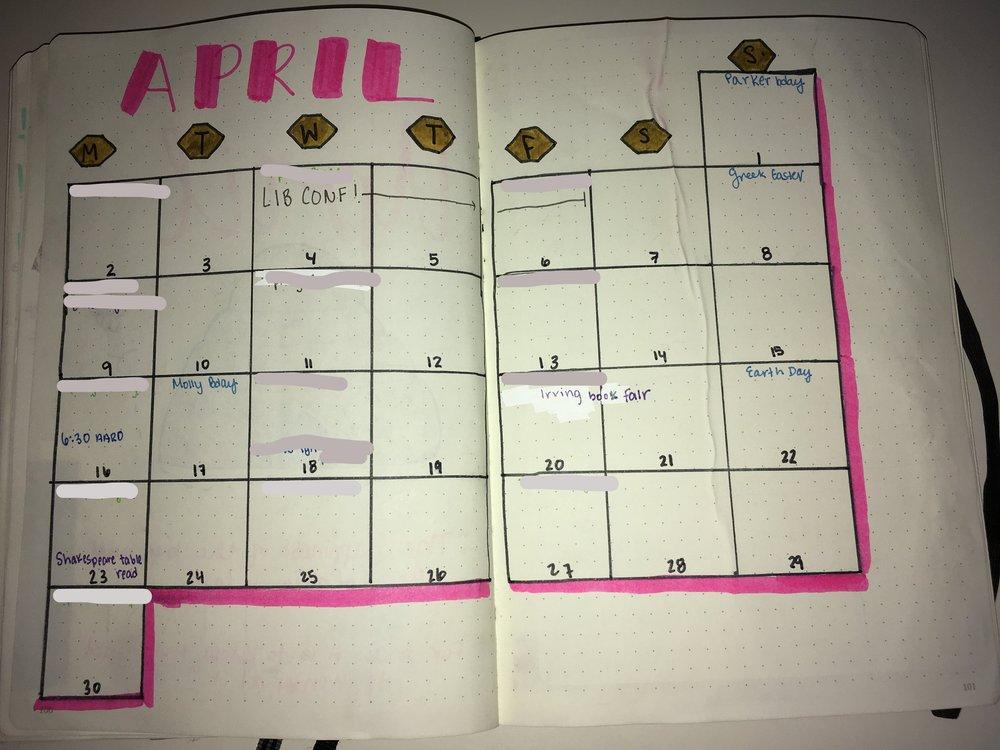april bullet journal calendar.jpg