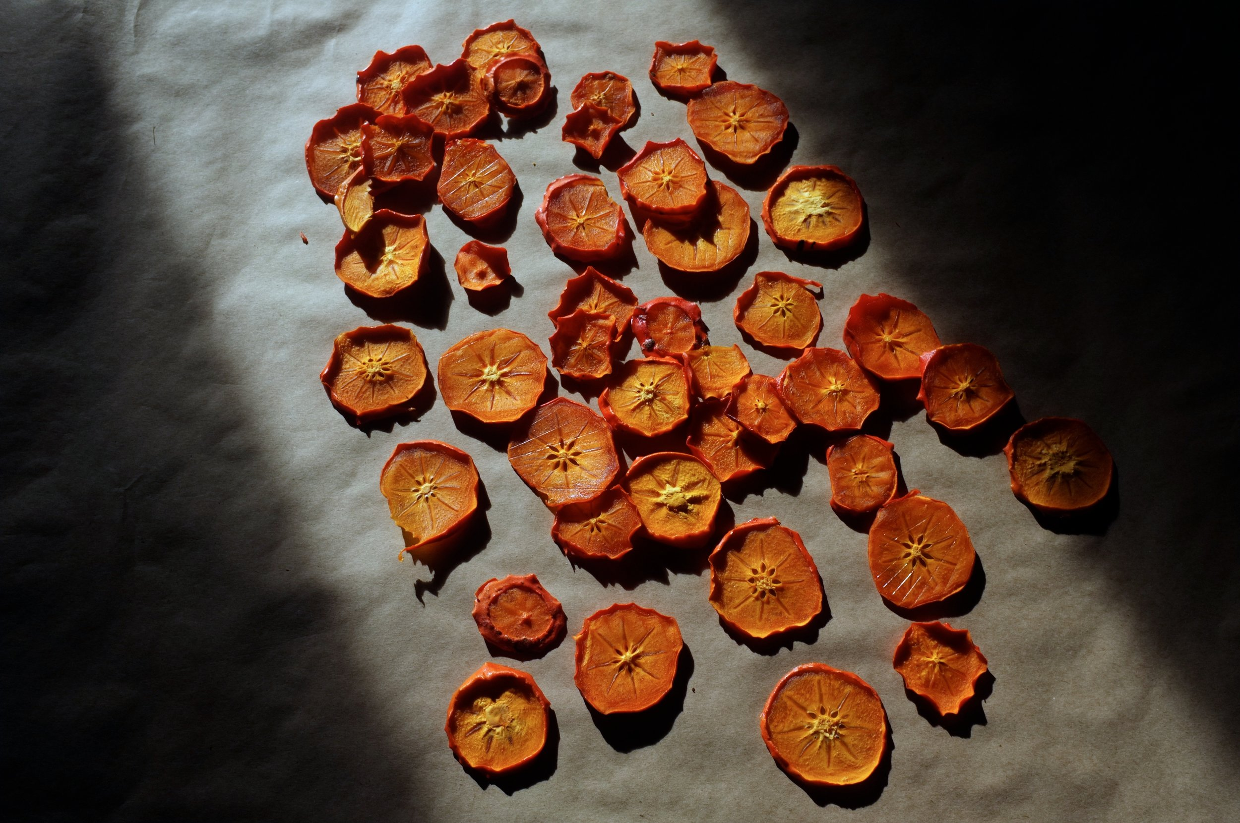 dehydrated persimmons.