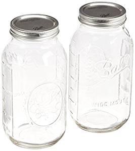 2 Quart Mason Jars