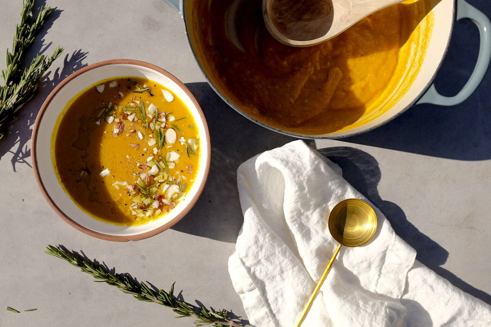 Rosemary Miso Squash Soup -