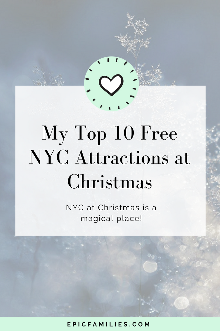 NYC at Christmas is a magical place! Many of the attractions are within easy walking distance of each other. Here are my top 10 free NYC attractions at Christmas: https://www.epicfamilies.com/blog/top-free-nyc-attractions