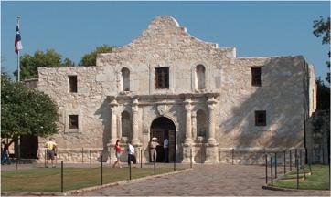 The Alamo in today's San Antonio, Texas.