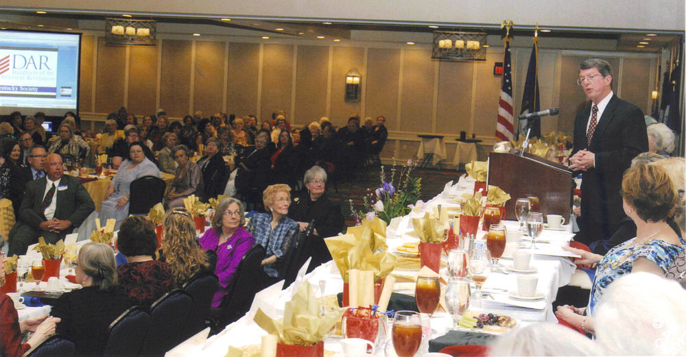 Randell addresses the State Conference, Kentucky Society, NSDAR in March 2012