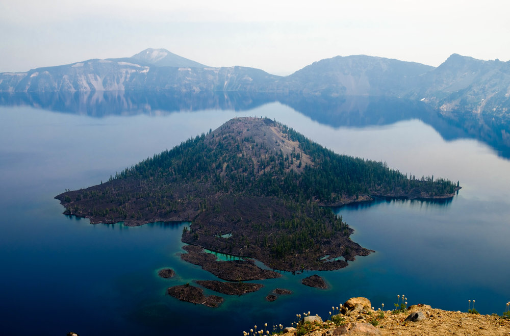 Crater Lake 2017 Solar Eclipse Little Map Lines