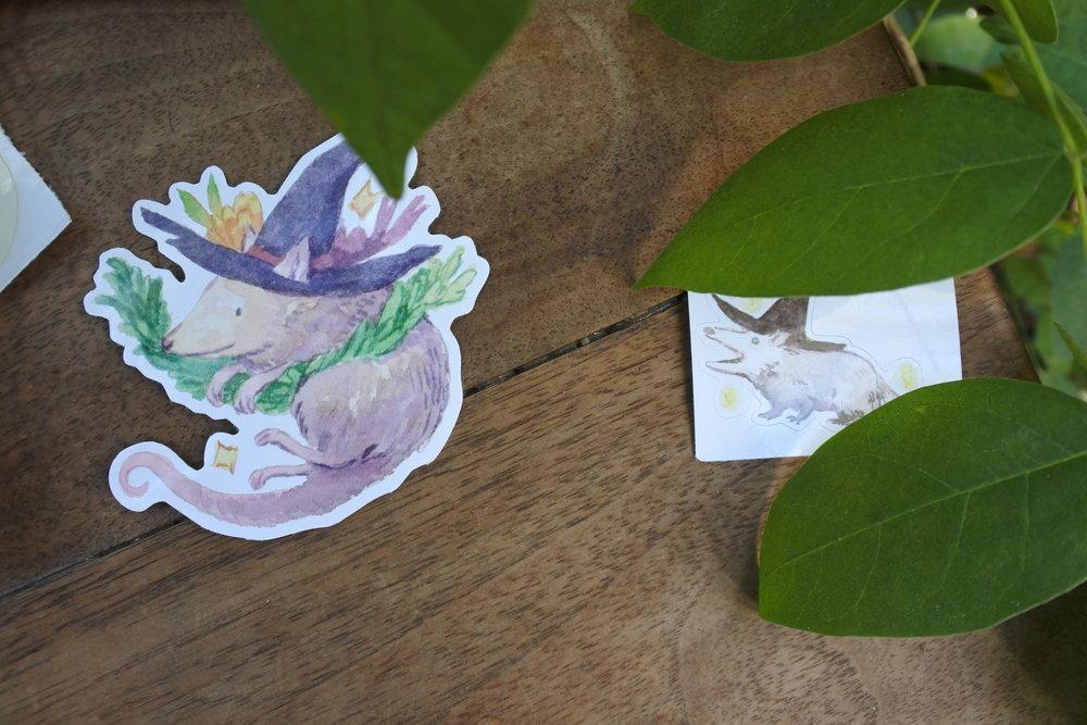 Cottonbook Possum Sticker