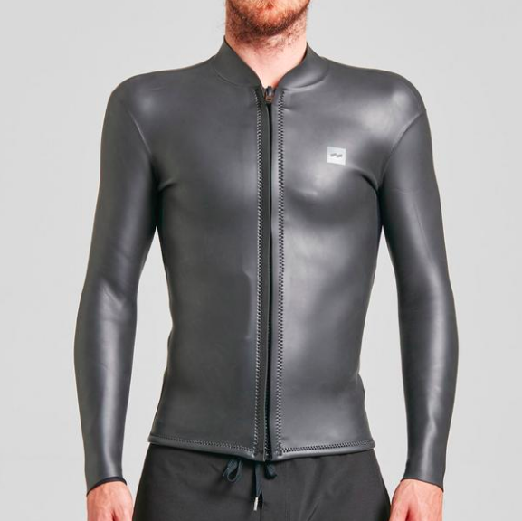 Warm water wetsuit - $100 - The One Front Zip is a smooth skin wetsuit jacket with minimal branding and a vintage look and feel. It's perfect for those windy days in the water.Find it on CURIO
