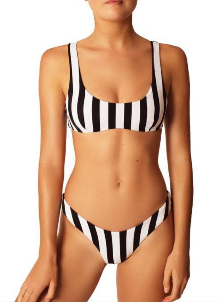 Bold Black Stripe Bikini - $130