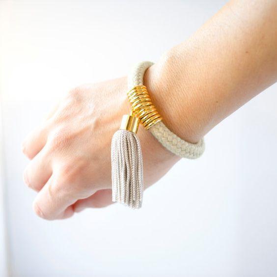 Cord Tassel Bracelet - $58