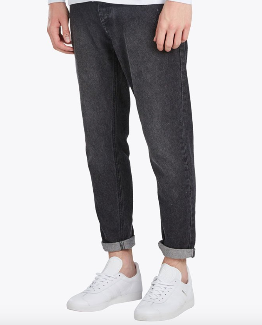 Bow Denim Black Jean - $159