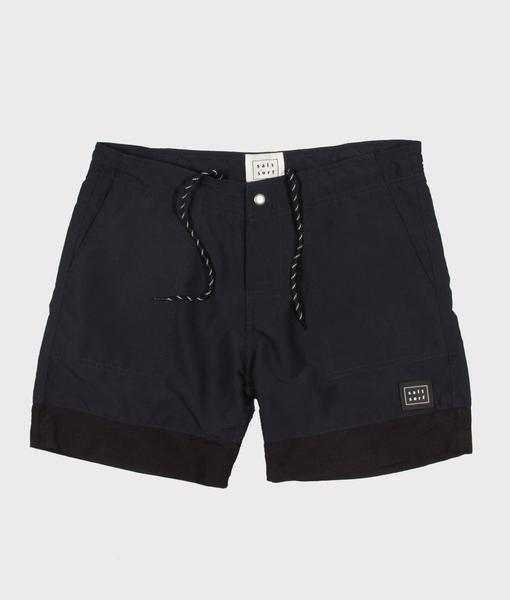 Classic Navy Surf Trunk - $45