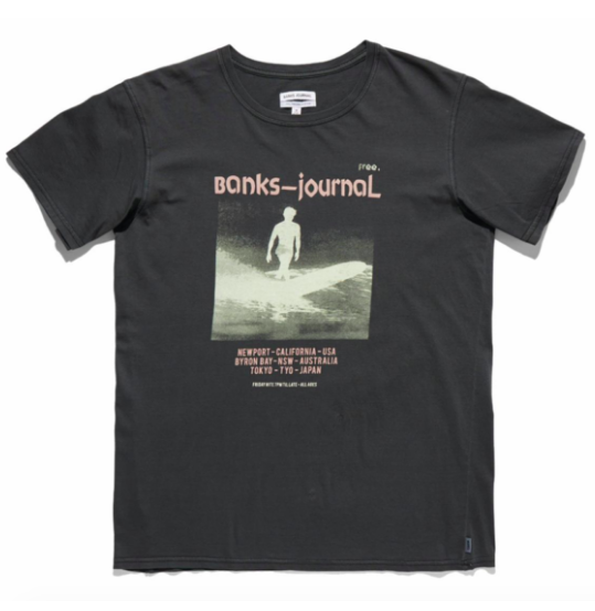 Frequency Faded T-shirt in Dirty Black from Banks Journal