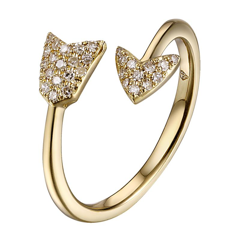 Arrow Diamond Ring from Brigitte & Stone