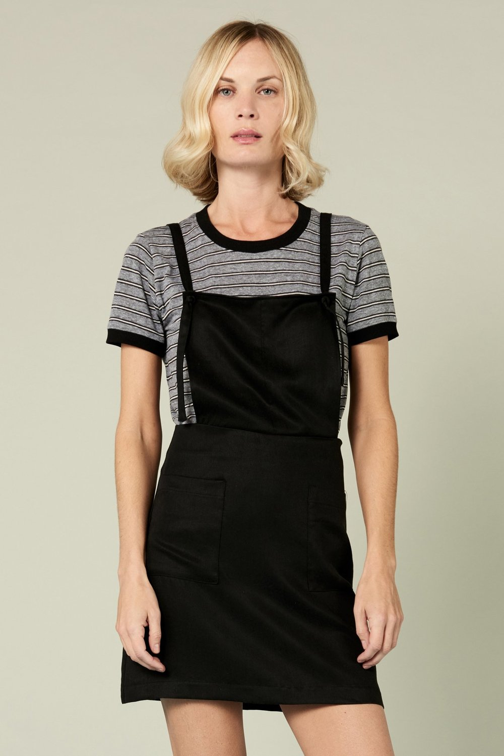 Whimsy+Row - Delia Pinafore Dress in Black
