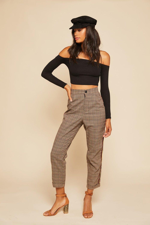 Step Up Plaid Pants - $78