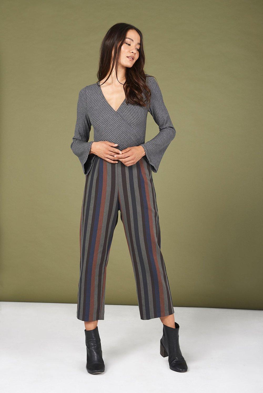Alyssa Bodysuit in Heather Grey - $72