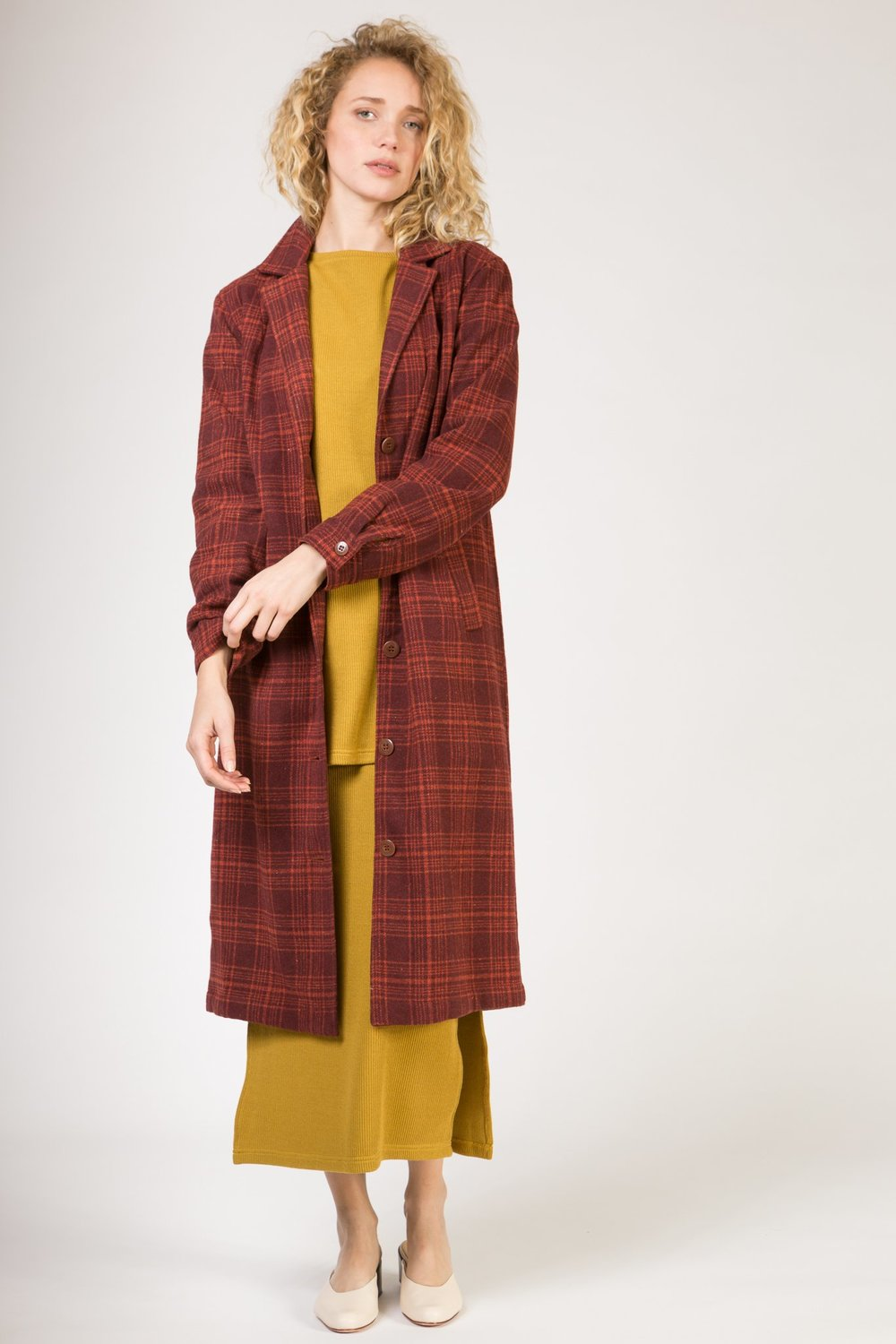 DUSTER - WINE PLAID $ 169