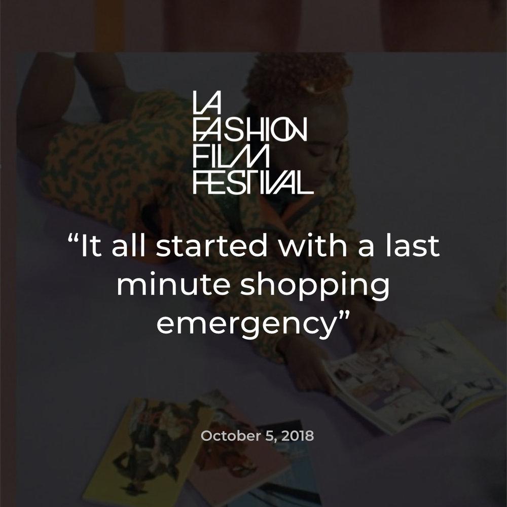 LA Fashion Film Festival CURIO