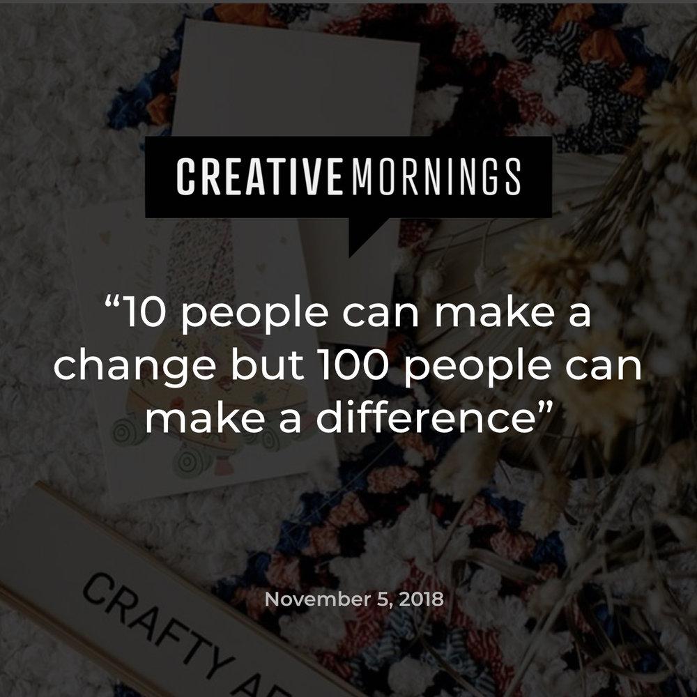Creative Mornings CURIO christine outram