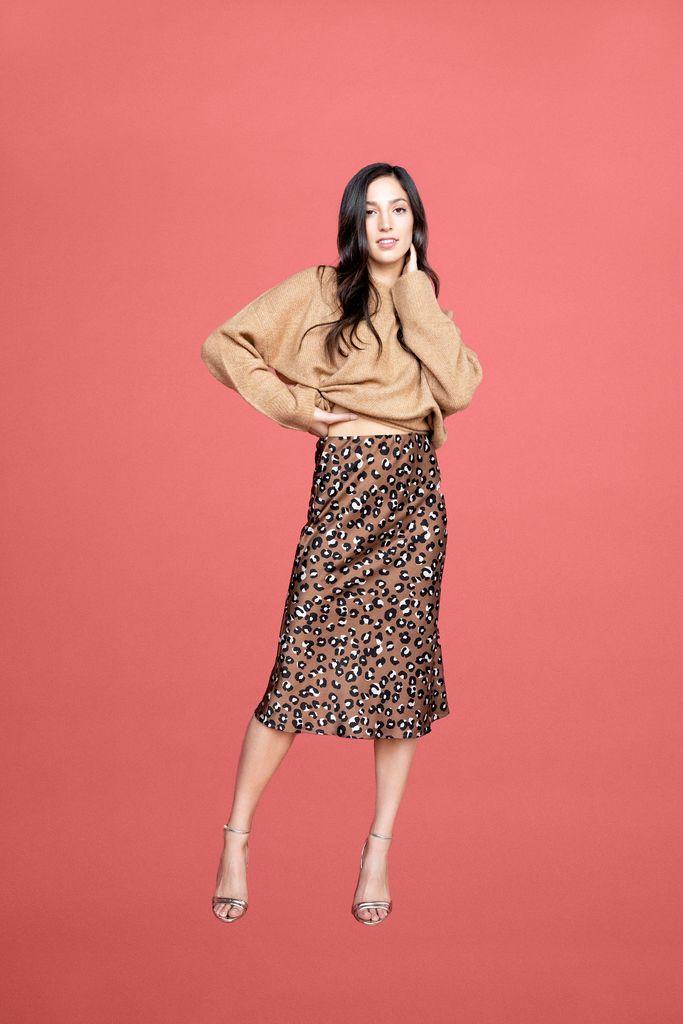 Gaby Midi Skirt - Leopard