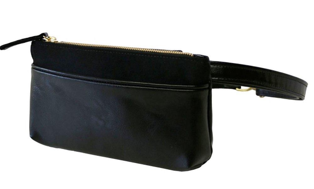 Black Pocket Bum Bag
