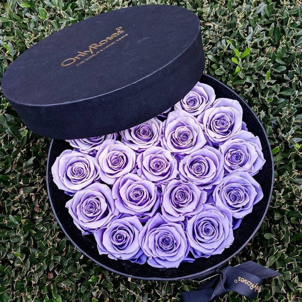 $275 infiniteRose Soho - Presented in a beautiful black hat style box, these roses will hold their place in your home and captivate your guests.