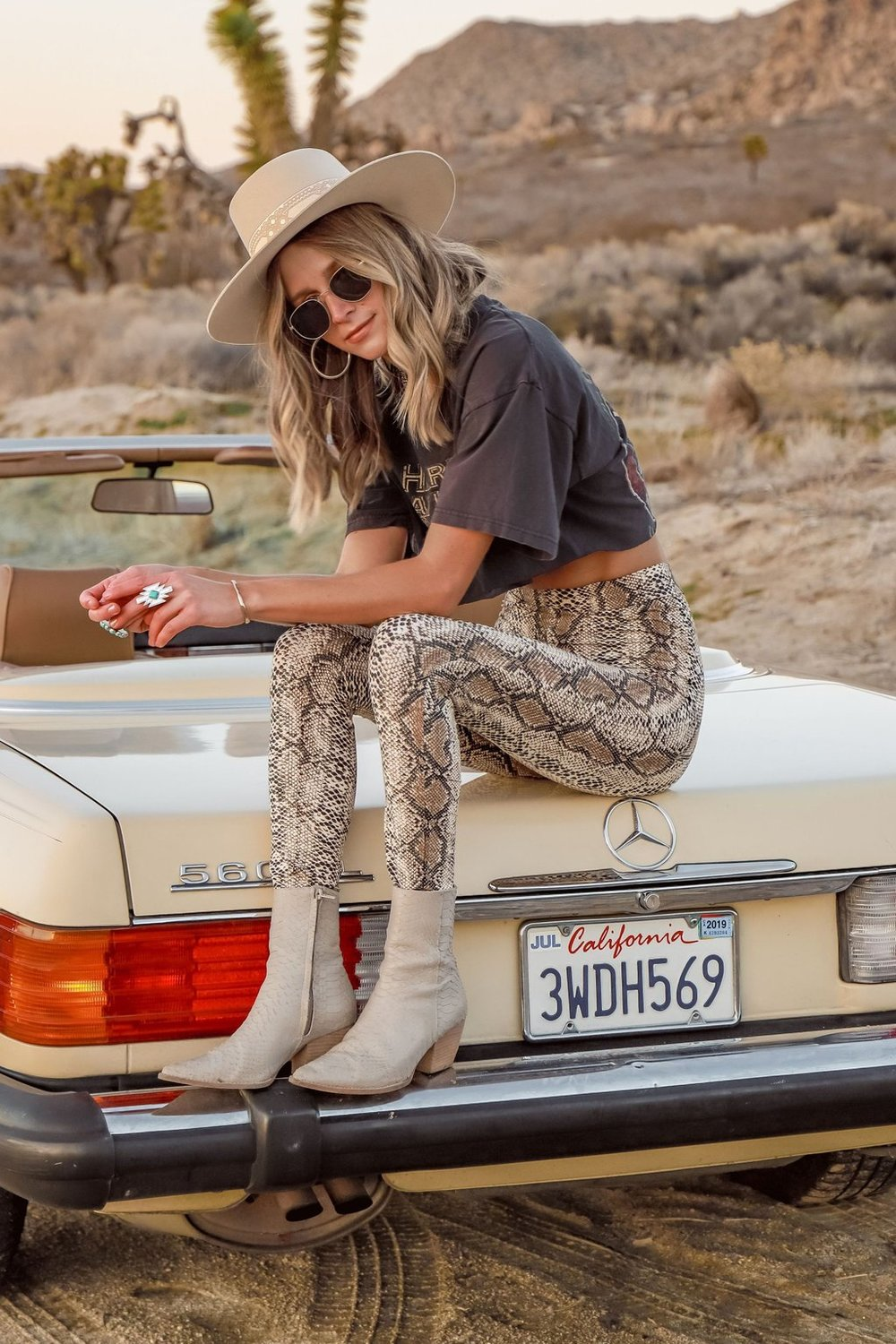 $68 Wild One Snakeskin Leggings - A crop tank in snakeskin is also part of this collection!