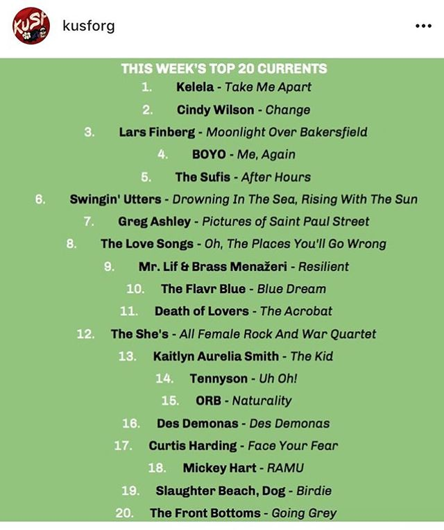 "The Love Songs album ""Oh, The Place's You'll Go Wrong"" LP is hitting the airwaves and charting on the top 20 @kusforg radio!! Listen up!! #1986d #thelovesongs #kusf #radioplay"