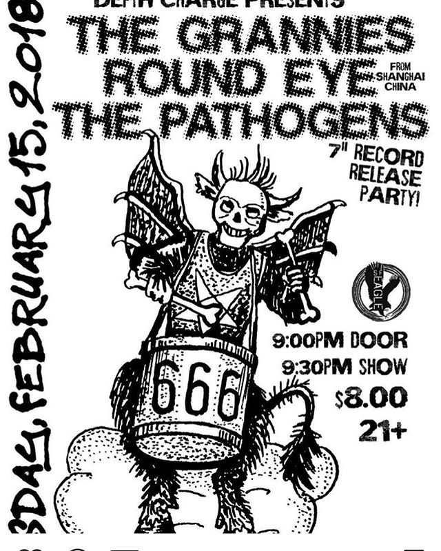 "The Pathogens new 7"" RECORD RELEASE show is this Thursday at The Eagle is SF!! Also come out to support Round Eye all the way from China!! #1986d @thepathogens @sfeagle @1986dmusicindustries"