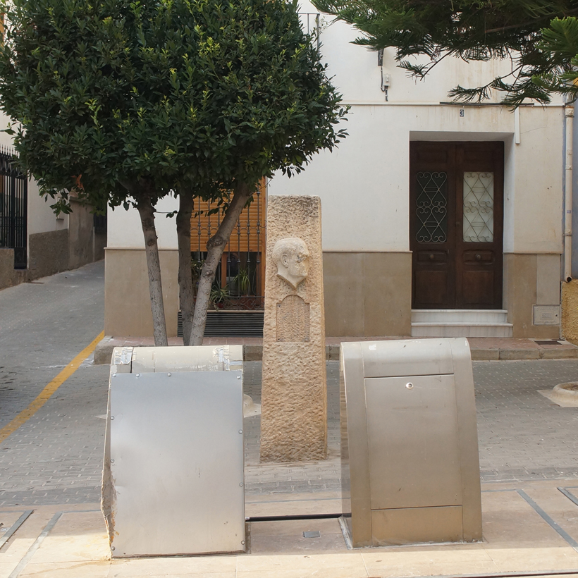 Defaced Monument of Franco in Blanca