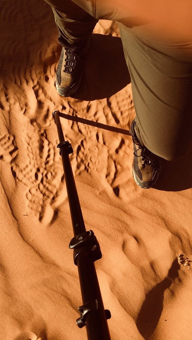On location in the Simpson Desert
