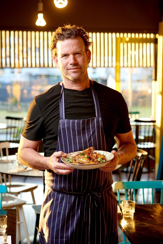 Ben O'Donoghue at his restaurant Billykart - Brisbane Advertising Photography, Brisbane Commercial Photography.jpg