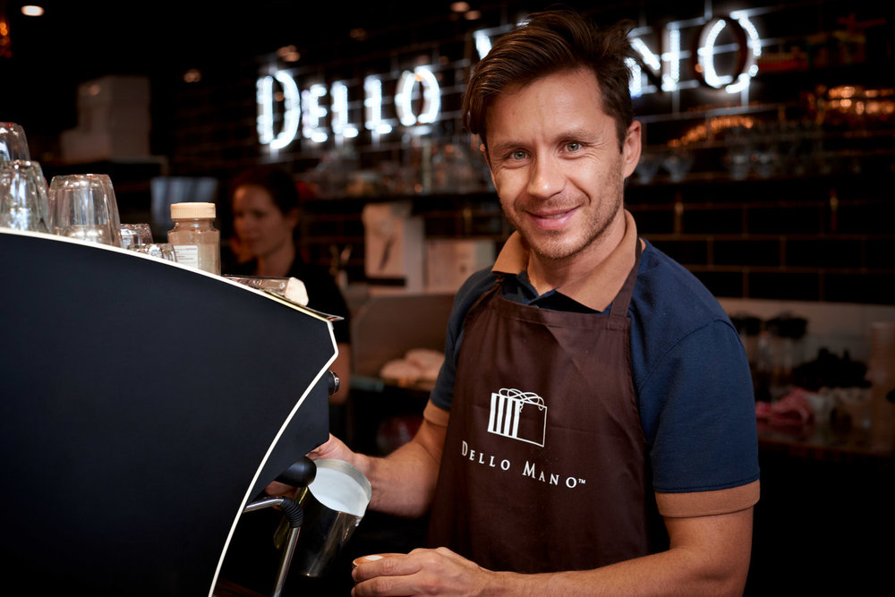 Barista at Dello Mano - Brisbane Advertising Photography, Brisbane Commercial Photography.jpg