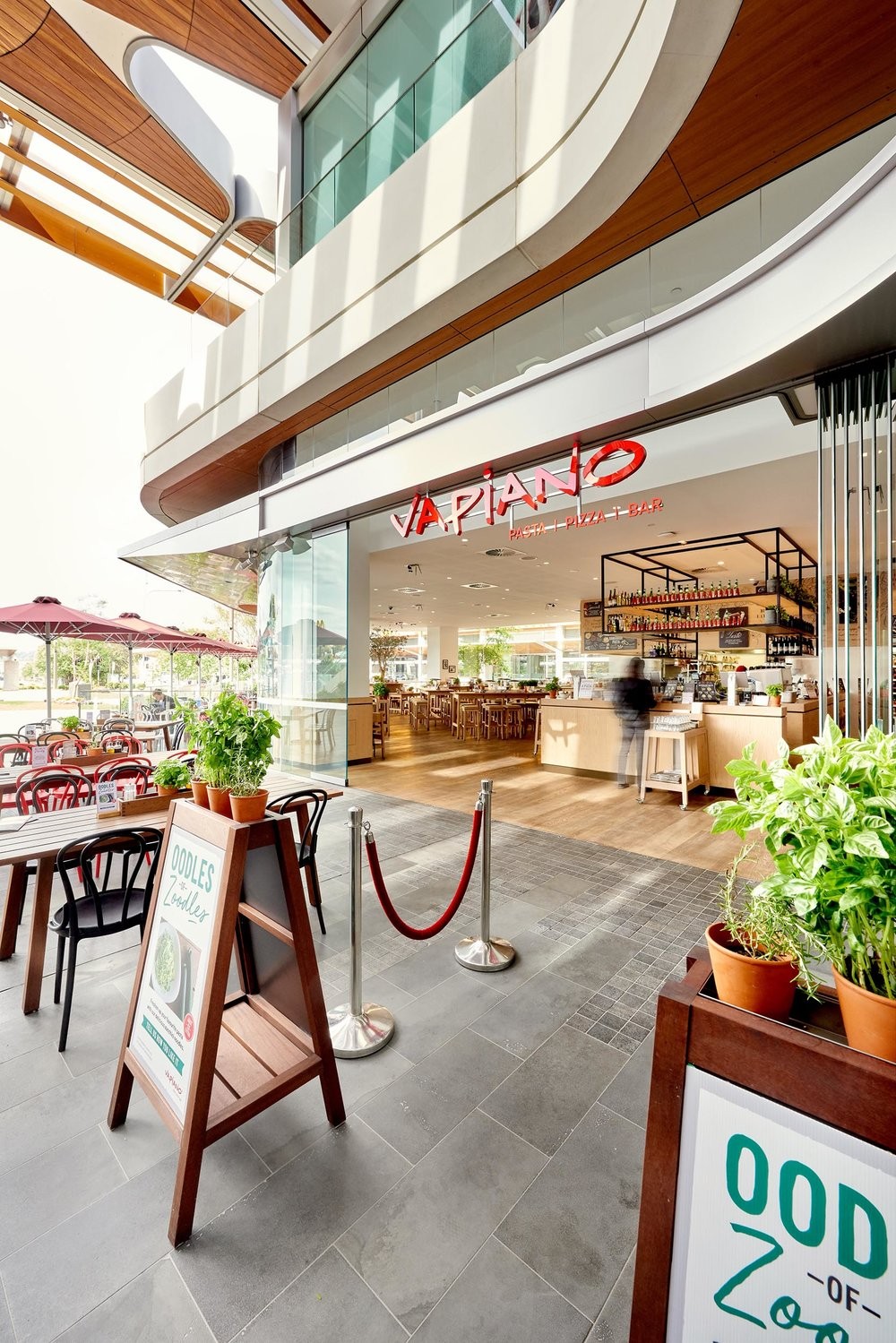 Architecture Toowoomba Vapiano Restaurant external - Brisbane Advertising Photography, Brisbane Commercial Photography.jpg