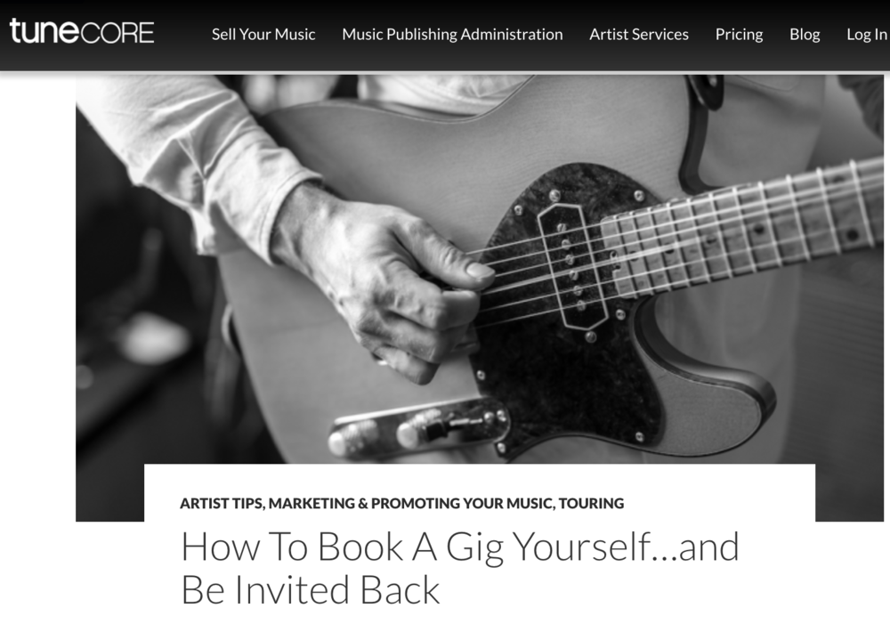 "How To Book A Gig Yourself…and Be Invited Back (Tunecore) - No matter what anyone tells you, we have yet to figure out a digital musical experience that can equal the fan connections a band can conjure through their live show. There is something in our DNA that is profoundly impacted by live music. Maybe it's the shared experience with those in attendance or the nostalgia a concert can create for a certain time in our lives.Or maybe it's something more primal; the process of syncing our natural rhythm to live drum and bass as it pulse through our bones. Either way, performing is still undoubtedly the best way to create loyal fans and combat the current ""musical-flavor-of-the-week"" culture we live in.Still, developing a live following is no walk in the park. You're going to need to dedicate hours-upon-hours of time to tightening your set and tirelessly promoting your shows. It'll get tedious, and success won't happen overnight, but if you work hard you'll eventually graduate from dingy bars and VFWs to better rooms. On top of that, I can honestly say nothing can match the indescribable feeling you'll get from performing in front of a room full of people and, if you're lucky, the dedicated following you'll gain from gigging out.Here are some tips on how to book that first gig, and how to get invited back!Read Full Article: http://www.tunecore.com/blog/2017/09/book-gig-invited-back.html"