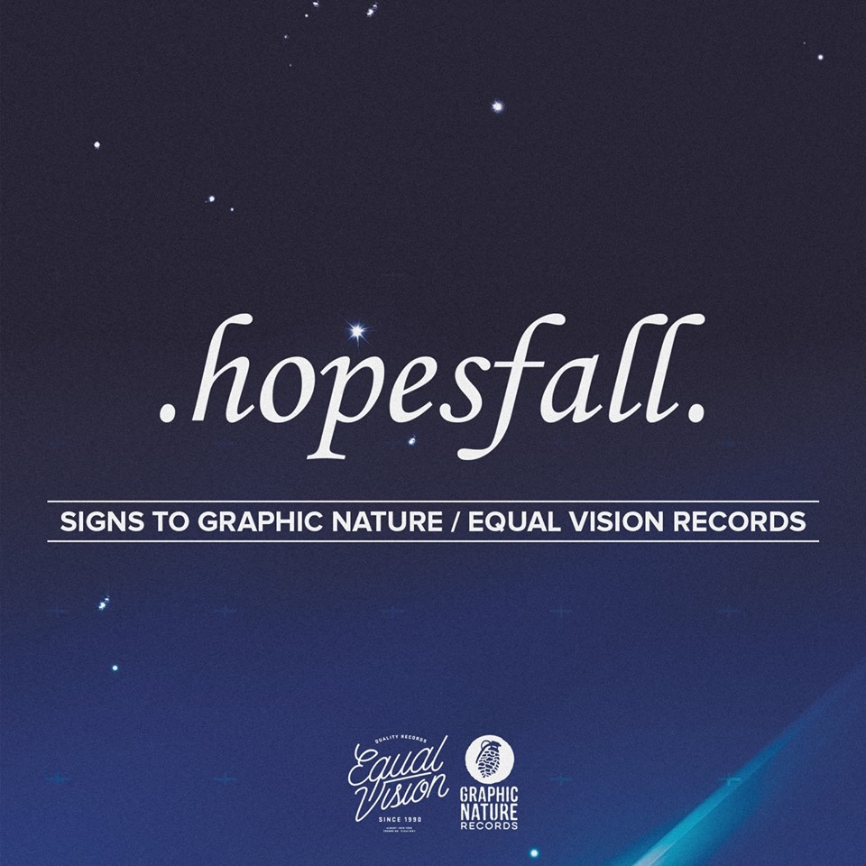"Hopesfall Artist Bio (Client Graphic Nature / Equal Vision Records) - Trust is key to any successful creative collaboration. It allows an artist to take risk and creates an open dialogue where each member is free to set aside personal ego to work towards a greater common goal. For melodic hardcore legends, Hopefall, that trust has become second nature over their twenty plus years of friendship and, as a result, their new full-length, Arbiter, continues the band's legacy as pioneers.Hopesfall formed in 1998. Over the next decade, the band would undergo numerous line-up changes but always drew from the same core group of lifelong friends to source new members. The bond between the group was so strong that even after disbanding in 2008, guitarists Joshua Brigham and Dustin Nadler and drummer Adam Morgan continued to get together on Wednesday nights to work on new music despite having no plans to release it. It was during these jam sessions that the music that would eventually find its way onto Arbiter first began to take shape.In 2012, Brigham and Morgan visited frontman, Jay Forrest, in Chicago culminating in the decision that Forrest would add vocals to the demos. The lineup for the band's reformation would then be cemented in August of 2015 when bassist, Chad Waldrup, joined the group to see Hum and Failure. Still, the idea of putting out new music as Hopesfall wasn't part of the plan. With the lineup complete, the band brought their demos to another trusted collaborator - producer Mike Watts (Glassjaw, Dillinger Escape Plan, O'Brother) whom they had worked with on two previous releases, Magnetic North and A Types. It was Watts who brought the demos to Dan Sandshaw and Will Putney of Graphic Nature / Equal Vision Records where the idea of releasing it as a Hopesfall record was finally discussed. A testament to the band's hard-earned legacy, the famed label immediately jumped on the opportunity to release the project.Arbiter has a decidedly unique bend to it, but Brigham points out that it is built off of the same principles as Hopesfall's previous catalog - ""big riffs and dark melodies"". Forrest adds that the driving message of Arbiter remains the same as well: ""Hopes fall. Tragedies happen. But that doesn't mean you should give up or not stay the course"". Arbiter is a diverse collection of songs that encourages curiosity and exploration. Album opener, ""Faint Object Camera"", holds truest to the band's roots. It is an aggressive, riff-heavy track that was built loud enough to fill any room. ""Tunguska"" represents the other end of the spectrum with it's ethereal, laid-back tones and driving melodies, and ""H.A. Wallace Space Academy"" bridges the gap between the two with it's incredible dynamism and exuberant energy. Topically, Arbiter is political without taking to the bully pulpit. Again, ""H.A. Wallace Space Academy"", ""Tunguska"" and ""Faint Object Camera"" serve as a perfect representation of the album's diversity as they tackle the political manipulation to one of FDR's Vice Presidents, a massive asteroid strike and a now defunct telephoto lense that at one point was part of the Hubble Telescope, respectively.Arbiter is set for release on July 13th via Graphic Nature / Equal Vision Records. It is at once a reminder of why the band has become so influential and a beacon of the band's continued evolution. Look for Hopesfall to support the release with select tour dates later this year."