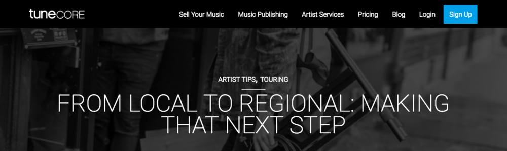 FROM LOCAL TO REGIONAL: MAKING THAT NEXT STEP (For Tunecore.com) - Congrats! You're starting to really draw a crowd in your hometown and the local press outlets are taking notice. That's a huge step for a band in building a sustainable career as musicians. You should be very proud of your accomplishments as you start preparing yourself for the next leap forward – going regional.I'm sure your confidence is growing as an artist, and you're starting to get social media followers from far away markets. Maybe some smaller blogs from all over the world are beginning to post your music. However, touring as a relatively unknown band can be one of the most stressful and defeating experiences you'll go through as a musician. It can even bring the demise of your project as tempers begin to flare over constantly losing money and playing to rooms of ten people.You probably became a musician in the first because you love it. So why be in a rush to add unnecessary stress and take the fun out of it? Rather than blindly booking a huge month long run of dates, your best bet is to start doing weekend warrior runs to neighboring cities. You still might play to some empty rooms at first or encounter some troubles on the road (i.e – van problems, band tension, getting stiffed on payment by promoters), but you're never more than a day or two away from your own bed and the financial hit you might take is never too substantive.I know the road is calling you but taking the proper steps early on will give you a better chance of having the amazing experiences on tour you've always dreamed of. Here are some ways to make that leap from local sensation to regional act getting their first taste of the touring life.Read full article: https://www.tunecore.com/blog/2018/05/from-local-to-regional-making-that-next-step.html