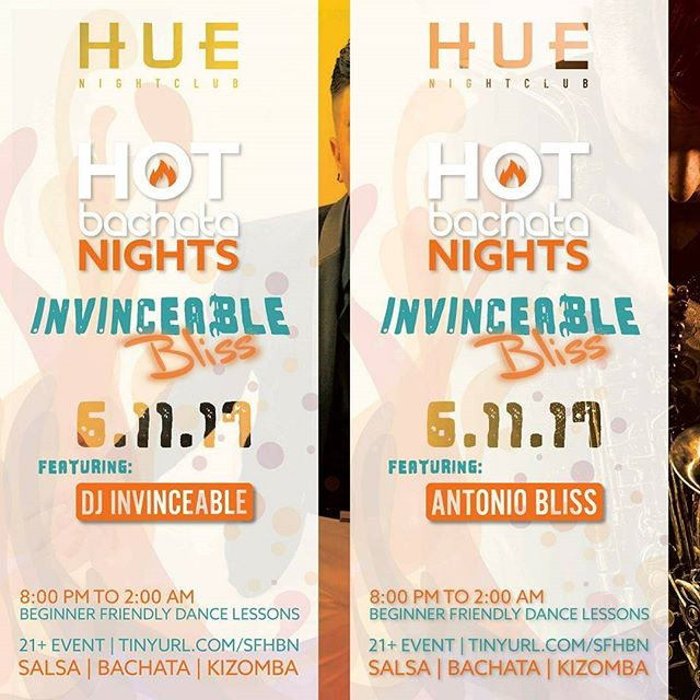 Don't miss out on our June 11th event: Invinceable Bliss featuring @deejayvince and @antonioblissofficial ! #bachata #saxchata #latothebay #hotbachatanights #sf #huesf