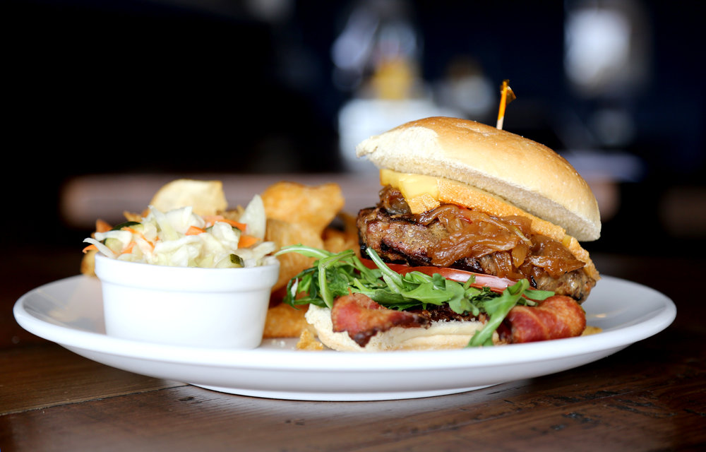 The Grand Burger // Photo by Blonde Cravings