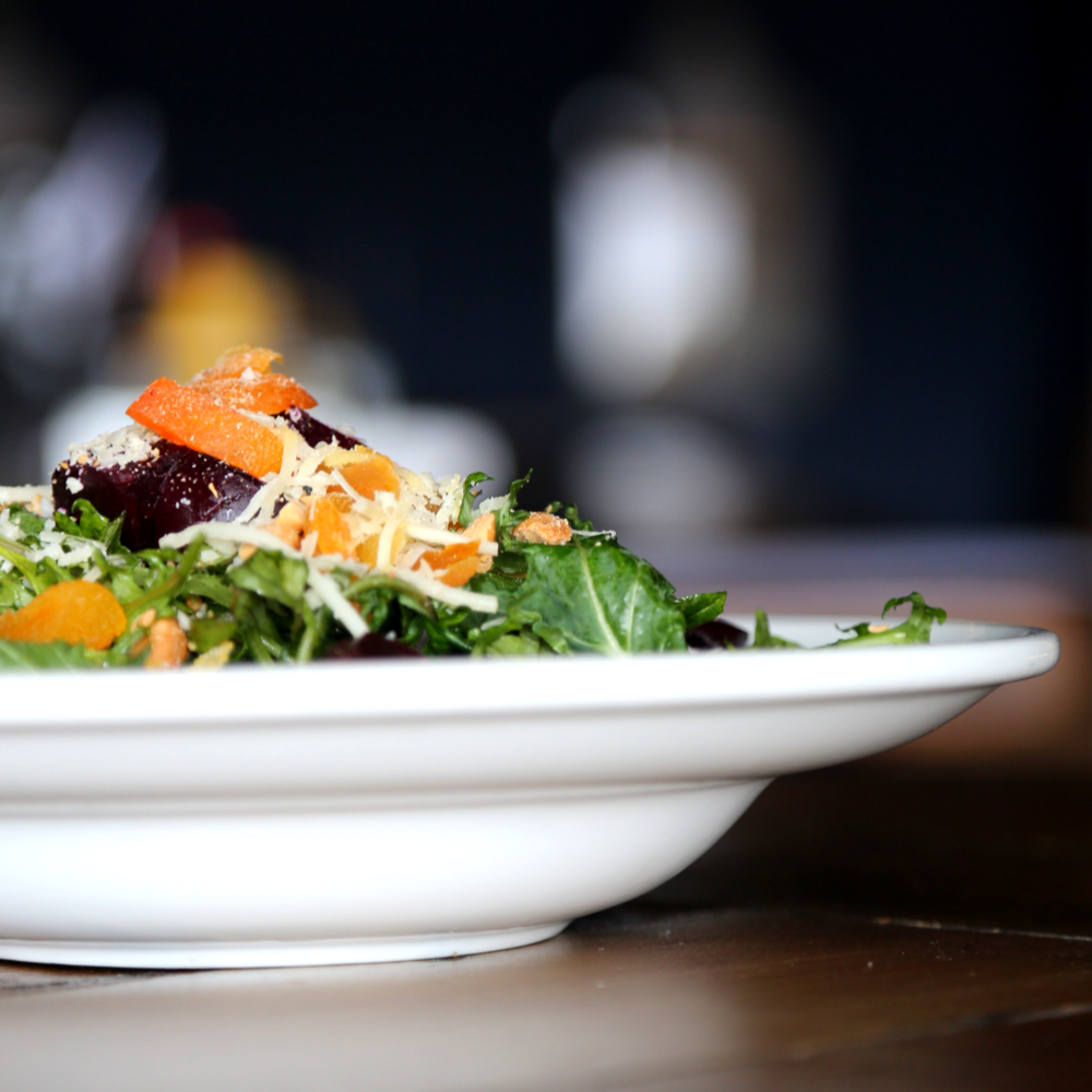 Baby Kale Salad // Photo by Blonde Cravings