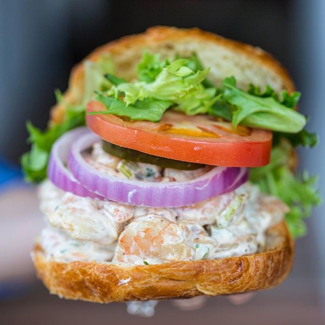 We'd share .. but we're a little shellfish 🍤 - 🍴 Homemade Shrimp Salad Sandwich 📍 @bigfishgrillriverfront 📸 @blondecravings