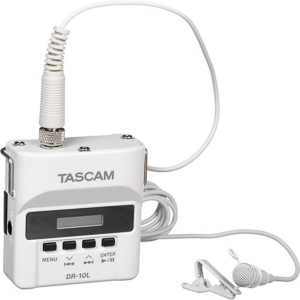 Tascam DR-10L Digital Audio Recorder with Lavalier Mic -