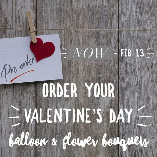 Love is in the air 🥰 And Valentine's is just around the corner. We are now taking pre-orders for Valentine's Day flower bouquets with LIVE & paper flowers and special Valentine's Day balloons.  Call, Email, Stop by, or DM for pricing. Early birds save big!!! ♥️ ♥️ ♥️ ♥️ ♥️ Flower Bouquets 💐 Cutie -3 Live roses 🌹 & 1 paper flower 💐Sweetie Pie -5 Live roses 🌹 & 1 paper flower 💐Lots of Love -7 Live roses 🌹 & 2 paper flowers  Balloon Bouquets 🎈 Cutie balloon bouquet 🎈 Sweetie Pie bouquet 🎈 Lots of Love Jumbo bouquet  All balloon bouquets include:  1  Main focus 3 V-day Specific 4 Solid colored hearts & balloon weight ⚓️