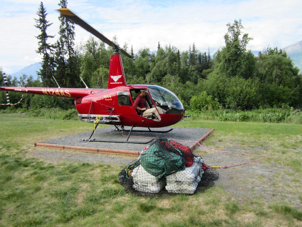 Helicopter transportation, sling loading, backcountry drop-off, utility work, surveys in Cordova, Alaska.