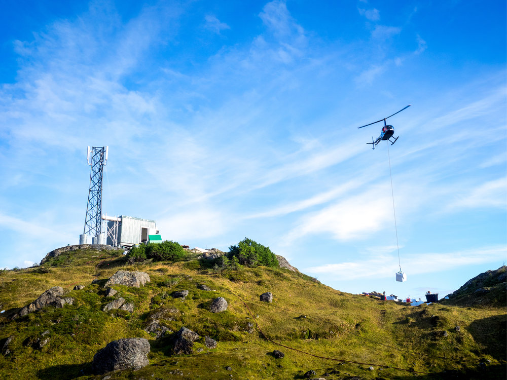 Ridgeline Aviation performing helicopter sling work in Cordova, Alaska.
