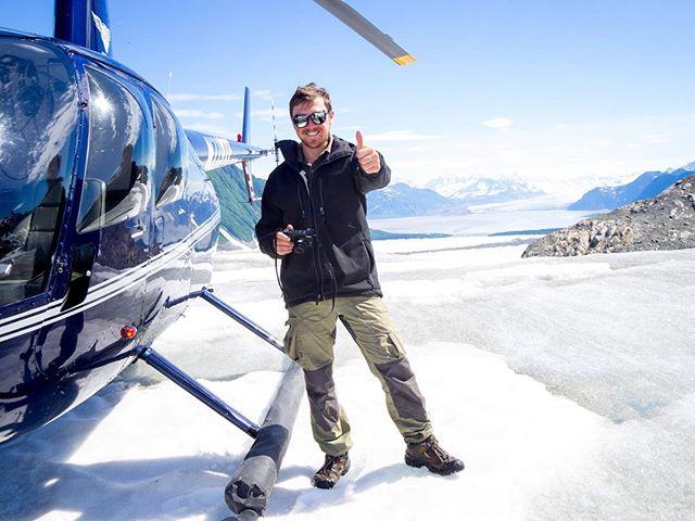 @tjkimbo looking stylish on Childs- Love the glasses!!⠀ 📷 @teal.barmore⠀ ⠀ #FlyRidgeline⠀ #Alaska #Alaskalife #AKlife #thelastfrontier #thealaskalife #flyalaska #sharingalaska #Cordova #cordovaalaska #Ilovecordova #livinginneverland #thealaskalife #travelalaska #alaskanadventure #r44 #helicopter #captstever