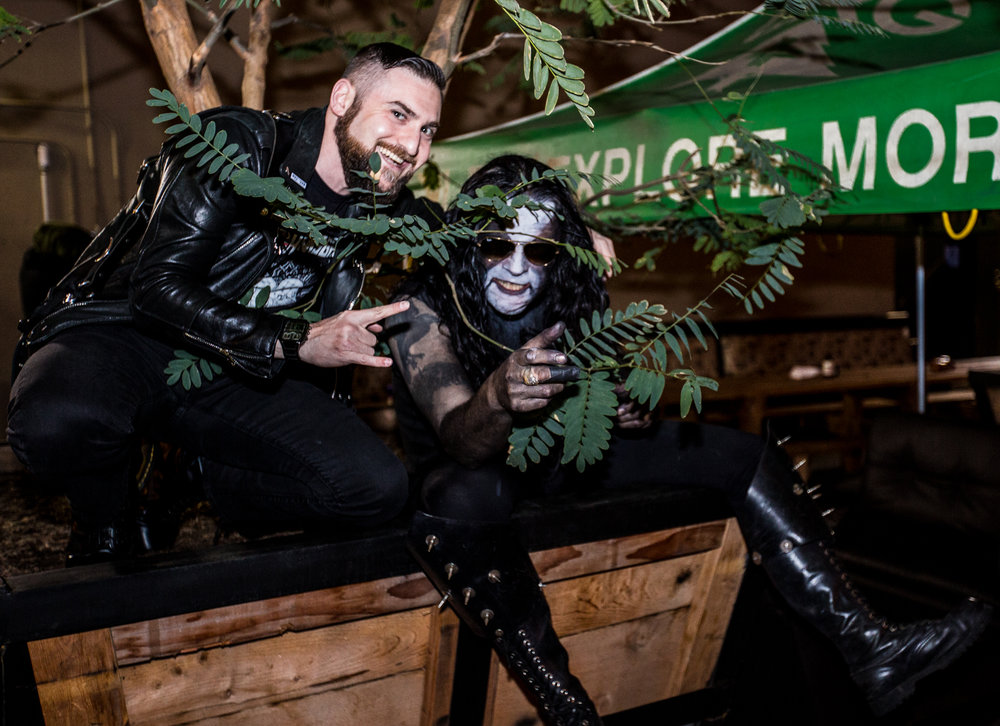 Just hanging out in the bushes with Abbath.