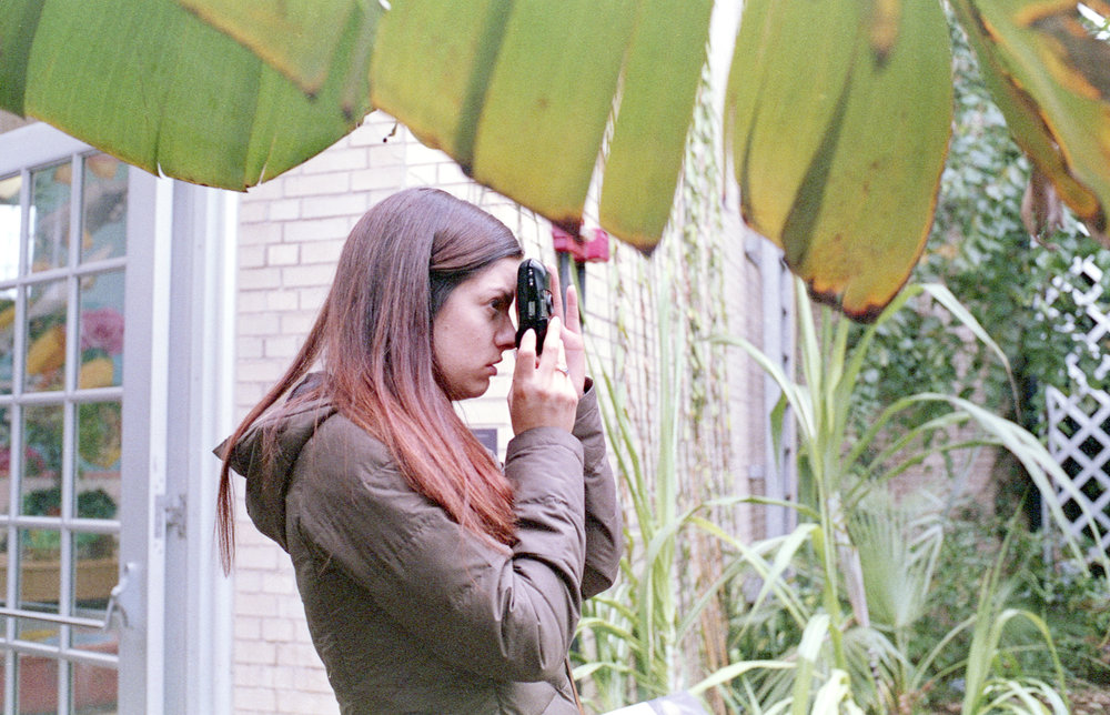 Courtney at the Botanical Gardens with an Olympus Stylus Infiniti.